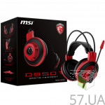 Гарнитура MSI DS501 GAMING Black/Red