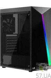 Корпус AEROCOOL SHARD-A-BK-V1 Black без БП, интернет магазин 57.ua