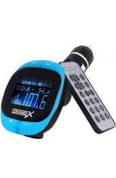 MP3-FM Transmitter - Grand-X CUFM25GRX, корпус Blue, интернет магазин 57.ua