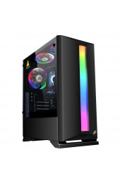 Корпус 1stPlayer Rainbow R6-R1 Color LED Black без БП, интернет магазин 57.ua