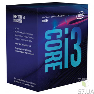 Процессор Intel Core i3 8300 3700 LGA-1151 (Box) BX80684I38300