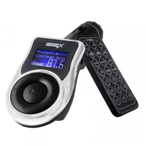 MP3-FM Transmitter - Grand-X CUFM77GRX, корпус - Black