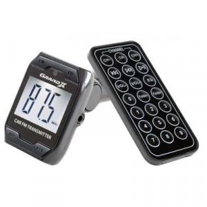 MP3-FM Transmitter - Grand-X CUFM71GRX, корпус - Black