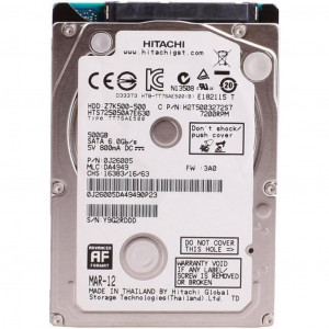 "HDD 2.5"" SATA 500 Gb,  32 Mb кэш, Hitachi HTS725050B7E630"