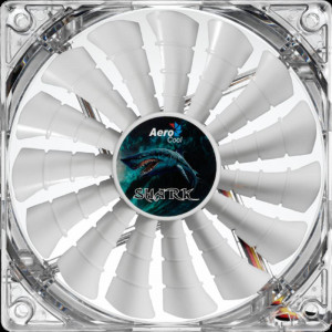 Вентилятор для корпуса AEROCOOL Shark Fan Great White LED Retail 120mm