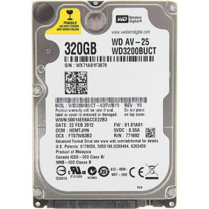 "HDD 2.5"" SATA 320 Gb,  16 Mb кэш, WD WD3200BUCT"