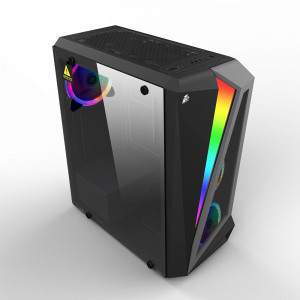 Корпус 1stPlayer R5-R1 Color LED Black без БП
