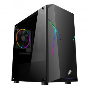 Корпус 1stPlayer R4-Firemoon-V2 RGB Black без БП